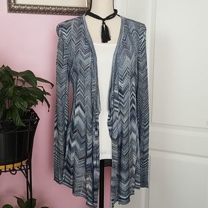 White House Black Market Waterfall Cardigan M